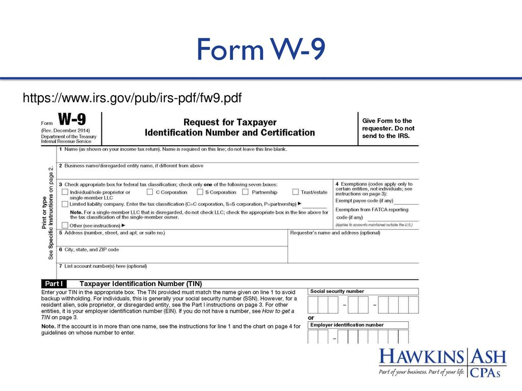 Payroll benefits and year end reminders for ppt download 69 form w 9 httpsirspubirs pdffw9pdf falaconquin