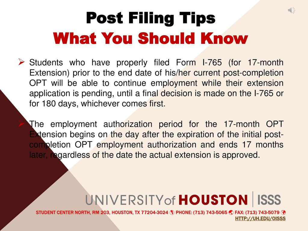 Optional practical training 17 month extension optx ppt download post filing tips what you should know falaconquin