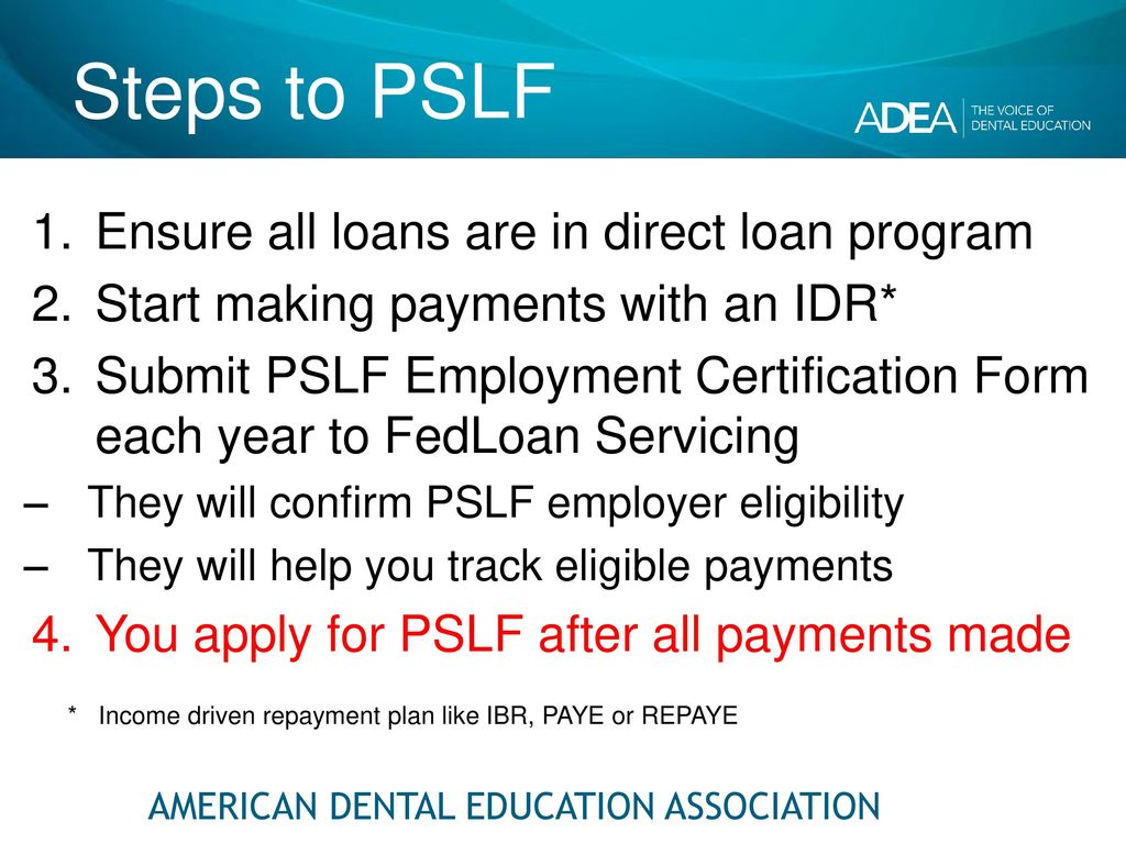 Senior loan exit interview dental school class of ppt download steps to pslf ensure all loans are in direct loan program 1betcityfo Image collections