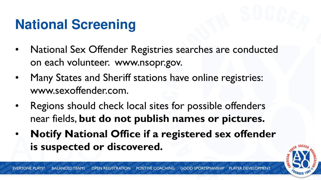free national sex offender registry check