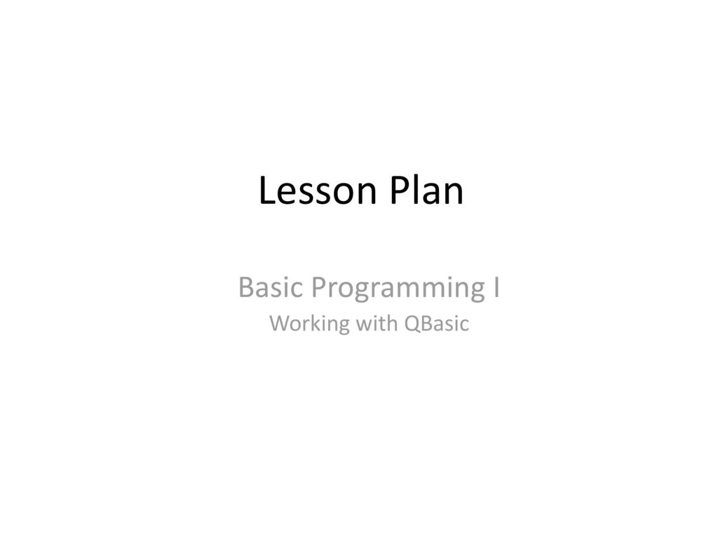 Qbasic Worksheets For Class 6