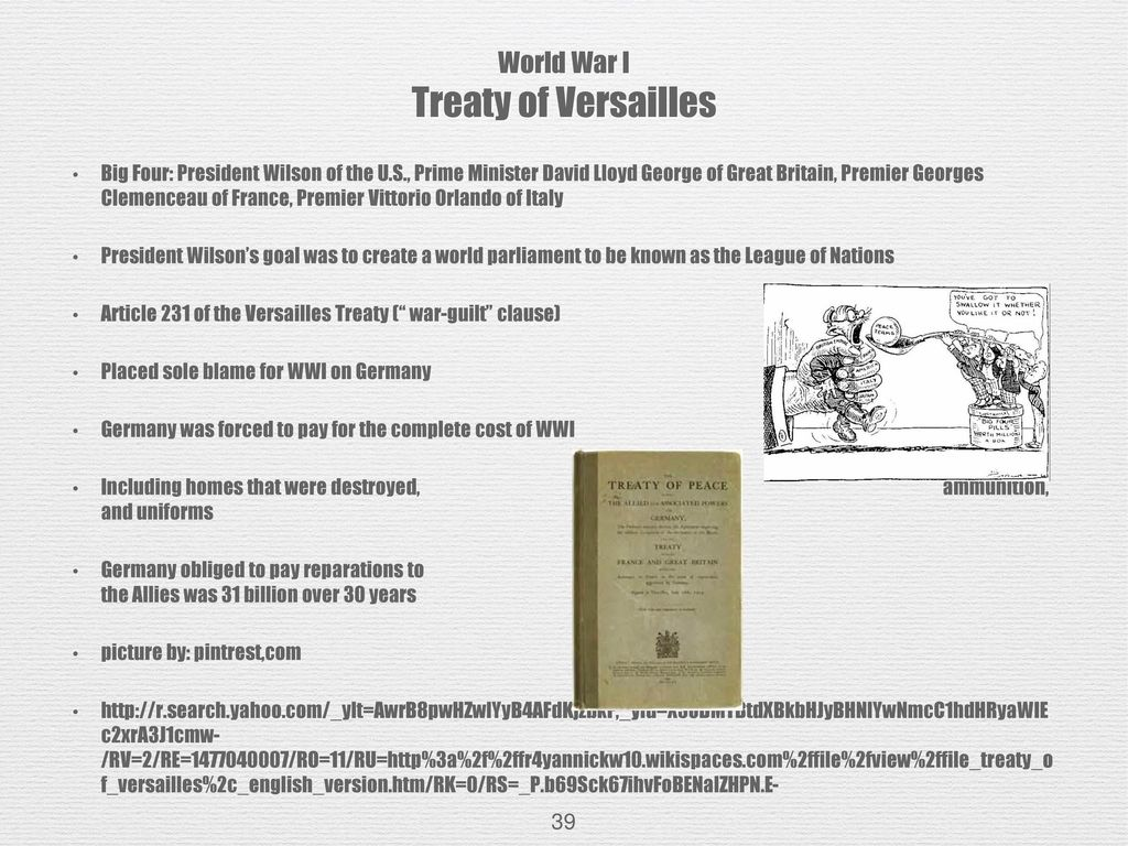 Treaty of Versailles: Reparations, Articles 231-247 Explained