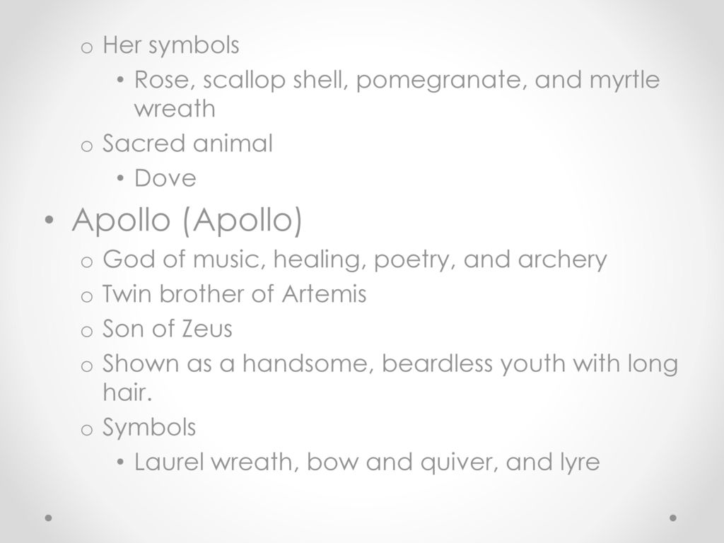 Gods and goddesses of ancient greece ppt video online download apollo apollo her symbols buycottarizona