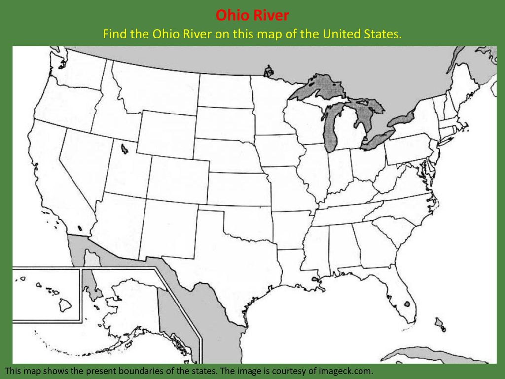 Ideas Map Of The United States Ohio River On Emergingartspdxcom - Ohio rivers map