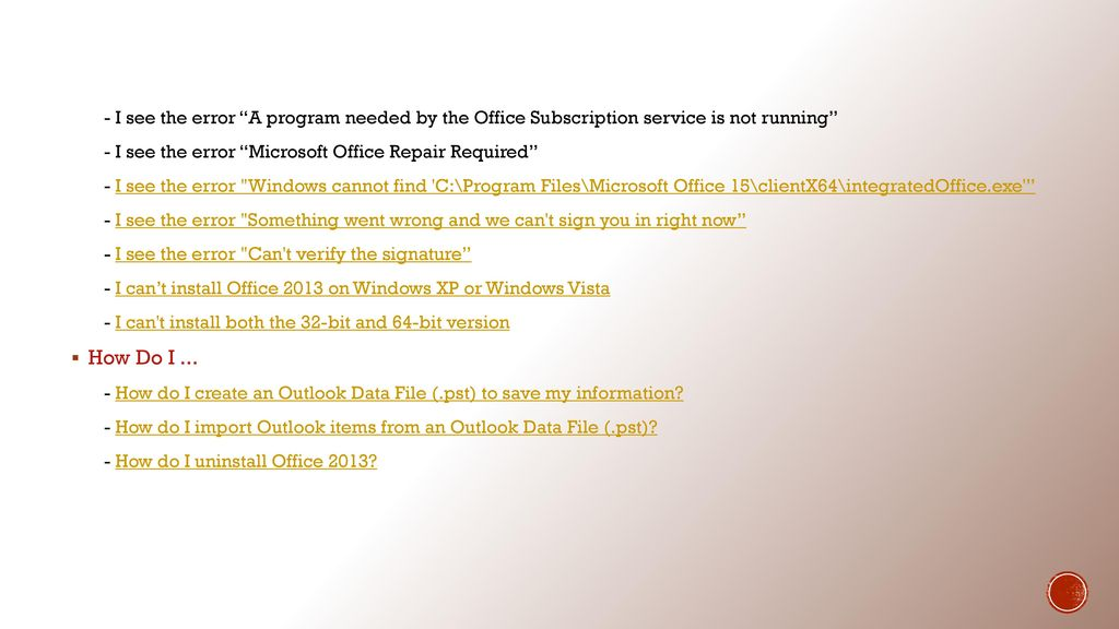 Office 365 help desk troubleshooting guide ppt video - You cannot install the 32 bit version of office 2010 ...