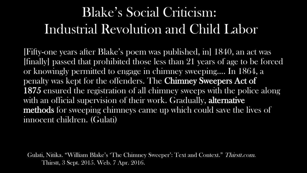 the chimney sweeper analysis William blake chimney sweeper essays - william blake's the chimney sweeper.