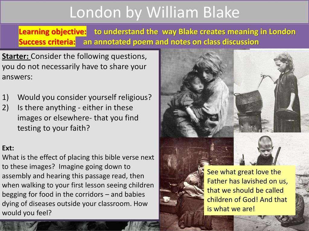 What do we associate with london today ppt download london by william blake solutioingenieria Image collections