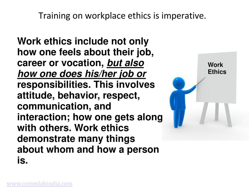 workplace ethics and attitudinal change