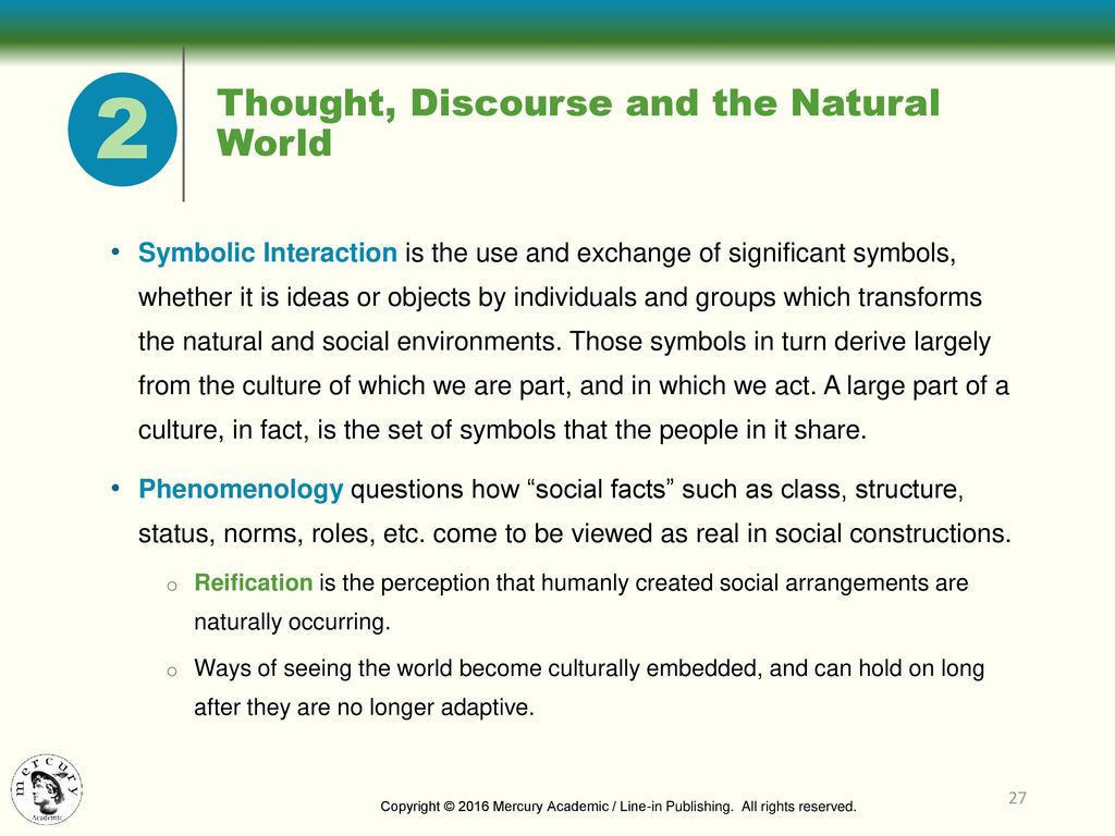 Environmental sociology ppt download 27 thought discourse and the natural world 2 symbolic interaction buycottarizona Images