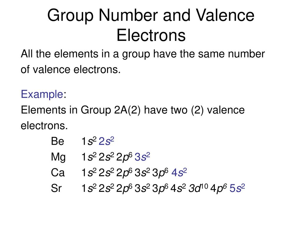 Chapter 5 electronic structure and periodic trends ppt download group number and valence electrons gamestrikefo Gallery