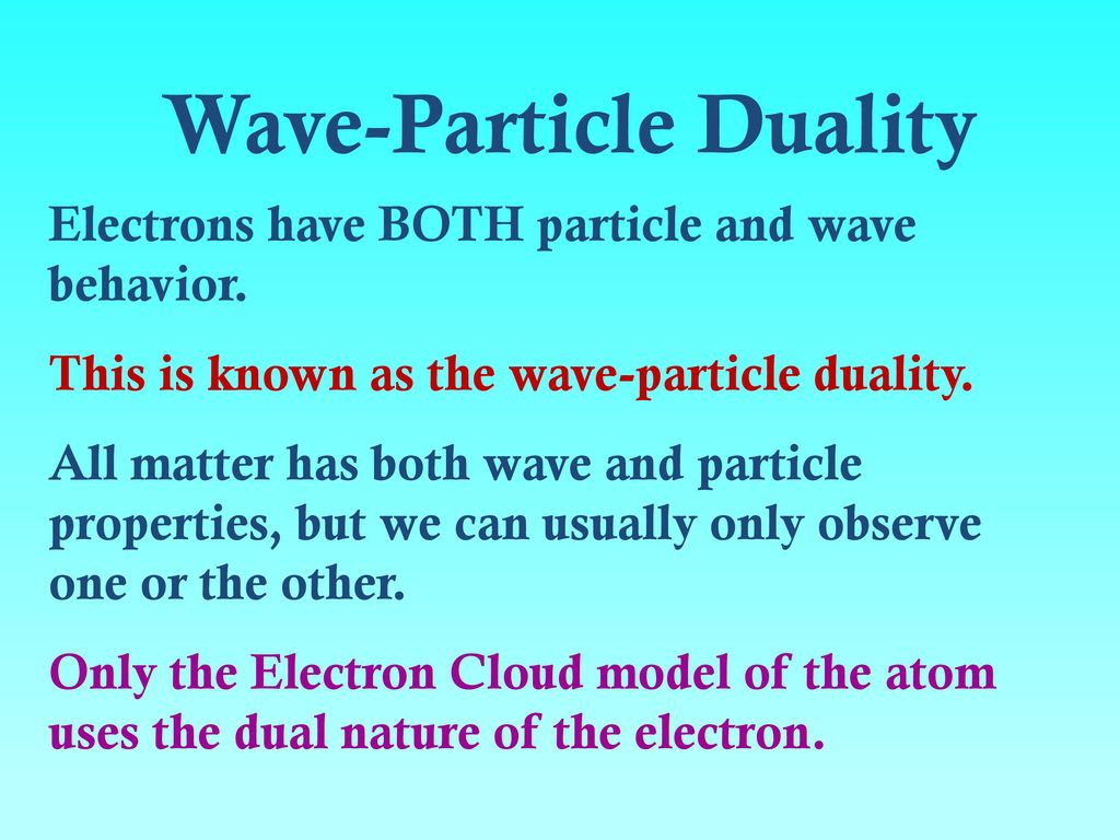 Wave Particle Duality on Electron Energy Levels Bohr Model