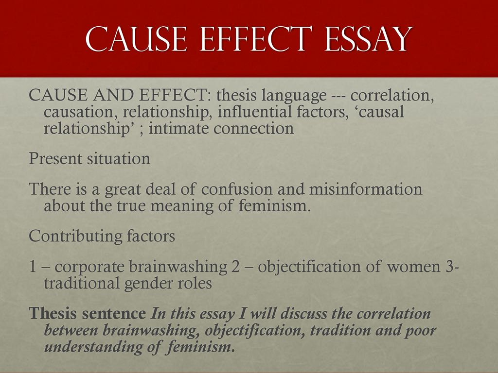 cause effect essay academic writing