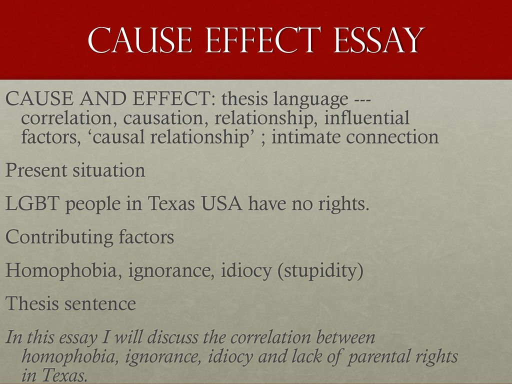 which would be the best thesis for a cause-and-effect essay Cause and effect essay detailed writing guide including structure patterns, introduction and conclusion techniques, useful examples, tips and best practices.