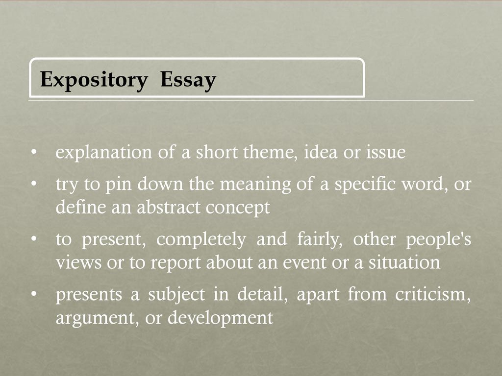 English expository essay topics