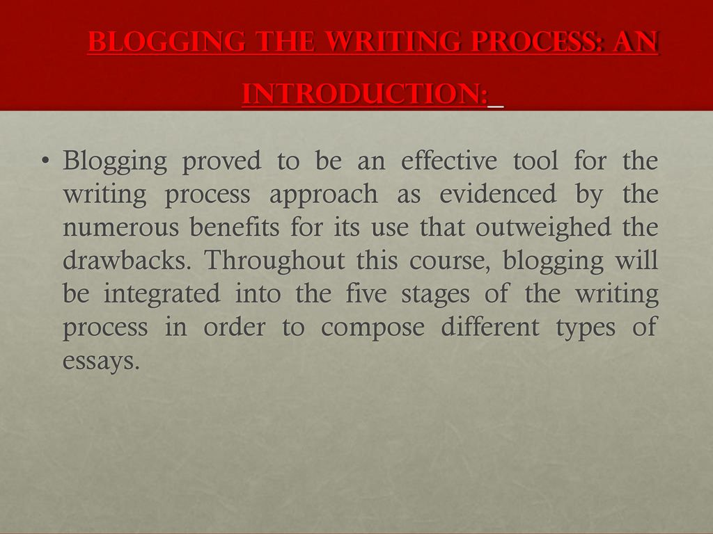 Blogging benefits essay
