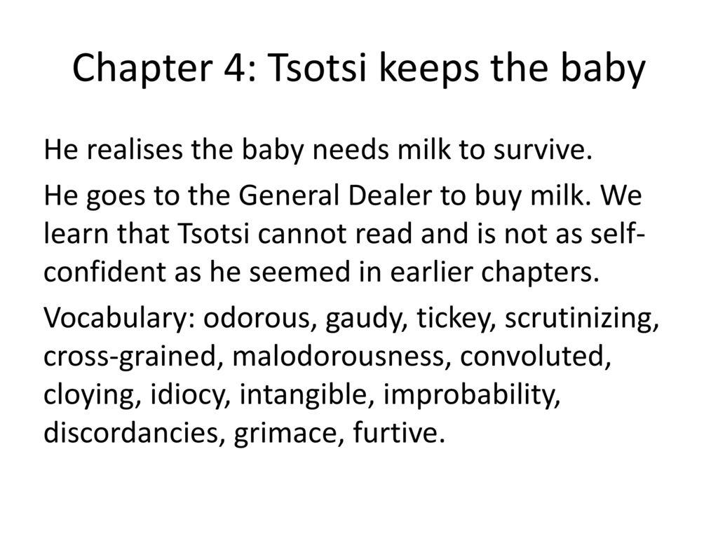 essay on tsotsi Essays and criticism on athol fugard - critical essays.