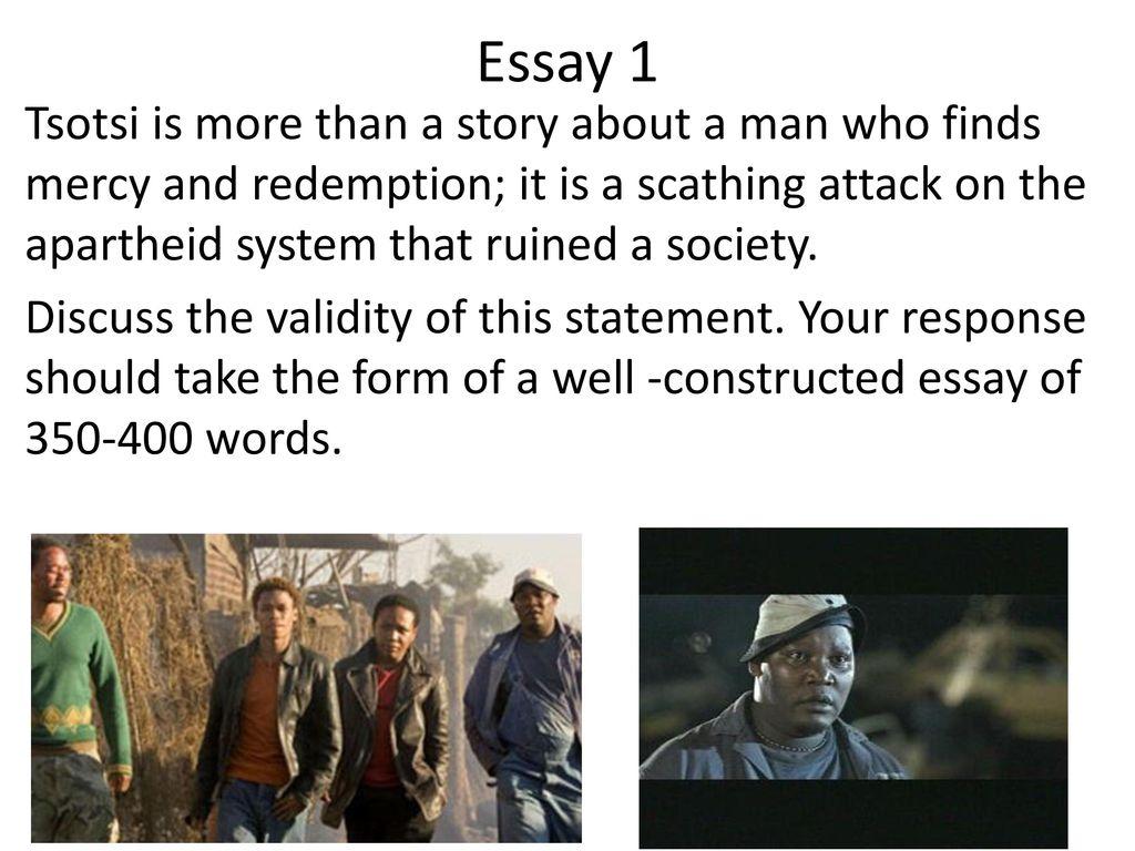 tsotsi ppt  37 essay