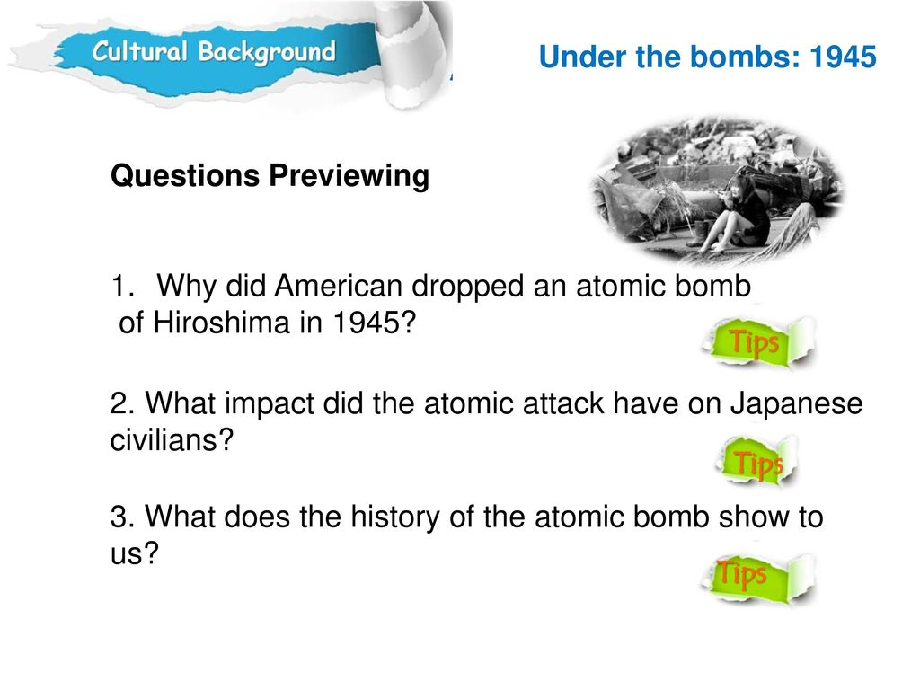 why america should drop the bomb Ultimately, i left hiroshima : why america dropped the atomic bomb with a better understanding and appreciation of why america decided to use atomic weapons against japan takaki provides motivations for most of the key players, along with supporting evidence.