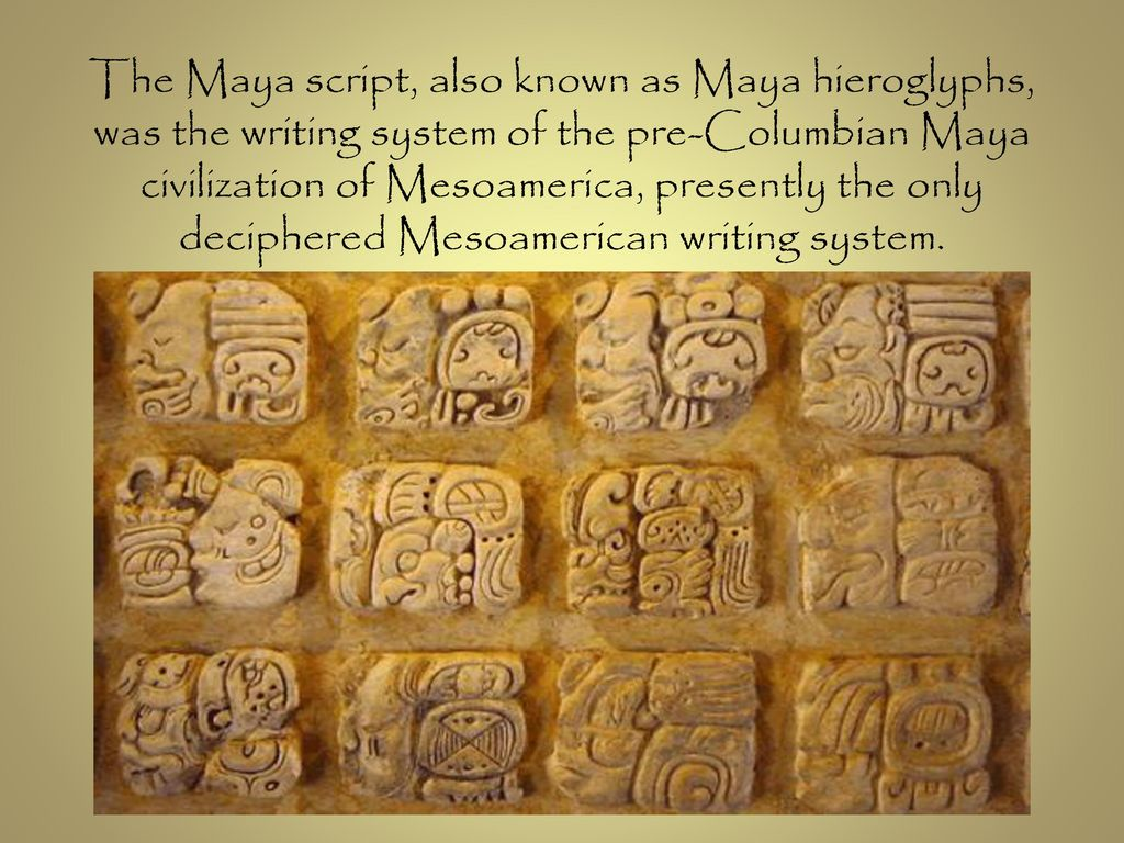 the advance and complex writing system of the mayan civilization Amazoncom: nova - the lost king of the maya [vhs]: nova: movies & tv  is  frustrated by our incomplete understanding of the complex mayan hieroglyphic  system,  scholars have made great progress in deciphering the maya writing  system  after figuring out the calendar system (which the mayans used to  accurately.