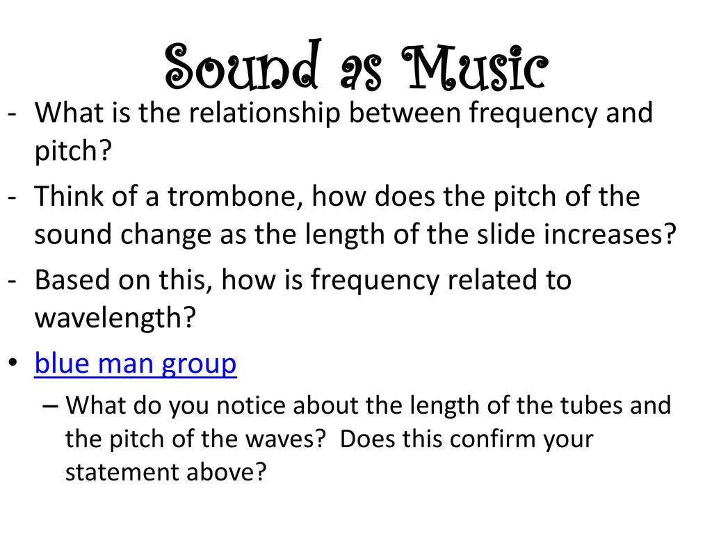 relationship between frequency of sound and musical notes