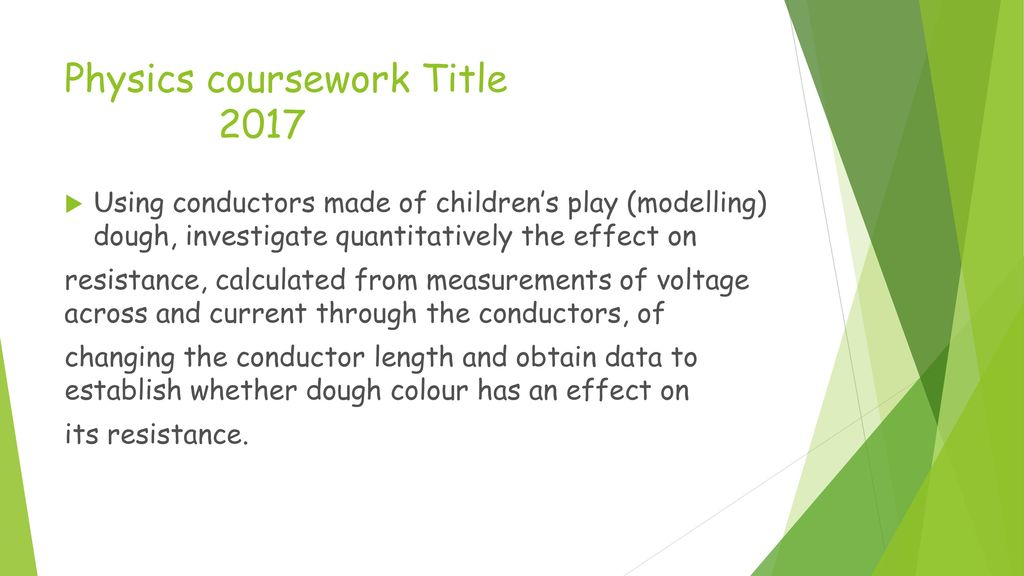 physics coursework As/a level physics b support materials (advancing physics) gce physics b (advancing physics) h159/h559: coursework handbook version 1.