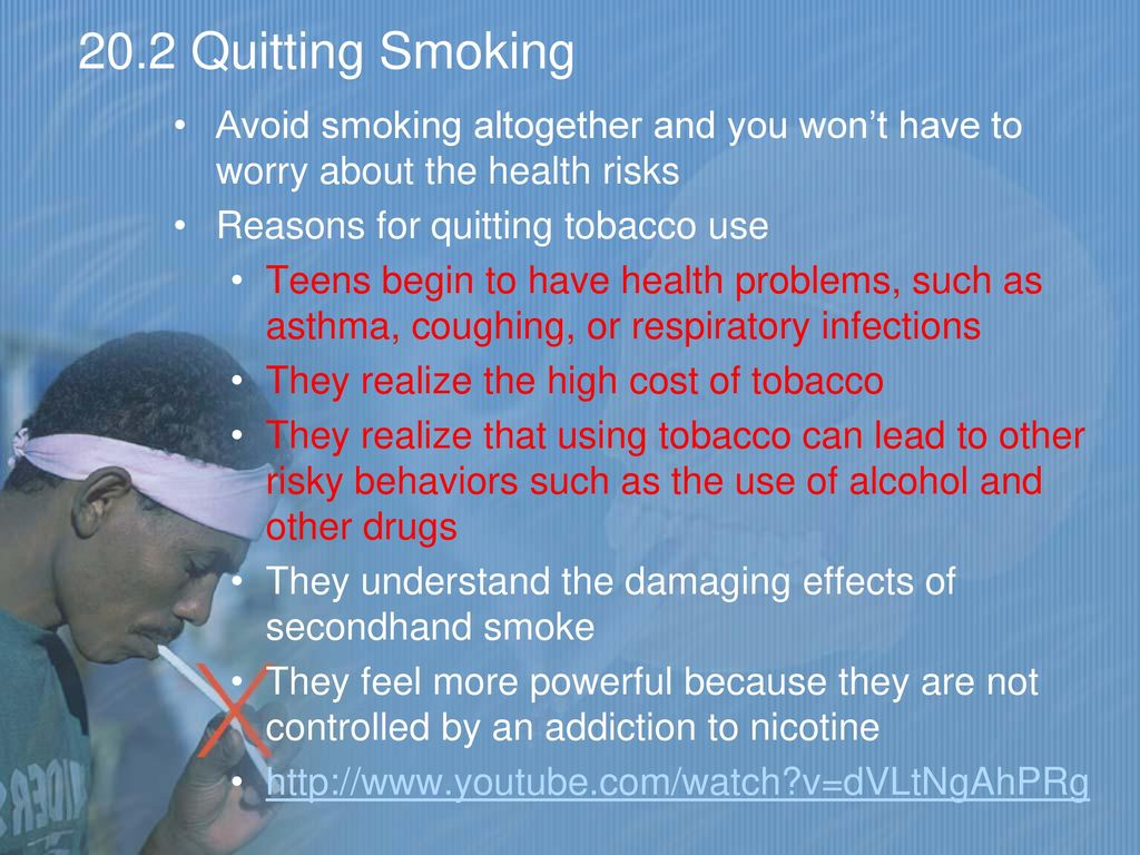 the dangers of smoking and ways of avoiding addiction Kicking the habit is the only way to prevent the damaging side effects that chewing tobacco can do to the body if you have a hard time quitting on your own there is help out there you can talk to your doctor or dentist about a quitting plan and they can give you advice and incentives to get you going in the right direction.