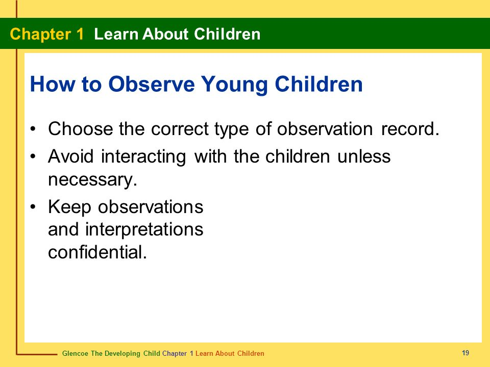 How to Observe Young Children
