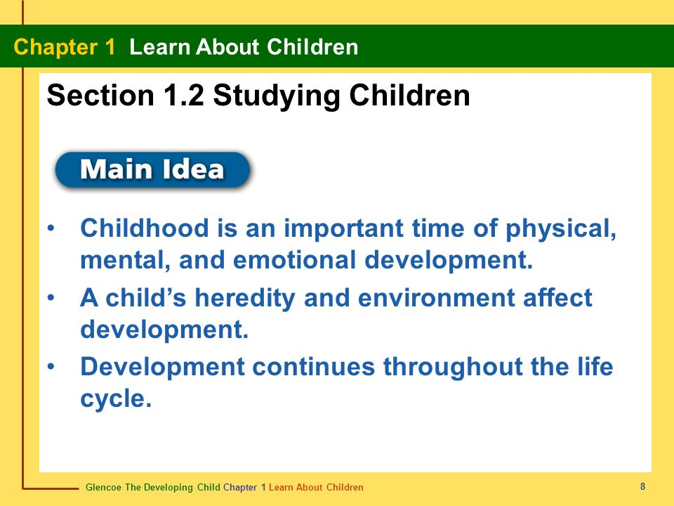 Section 1.2 Studying Children
