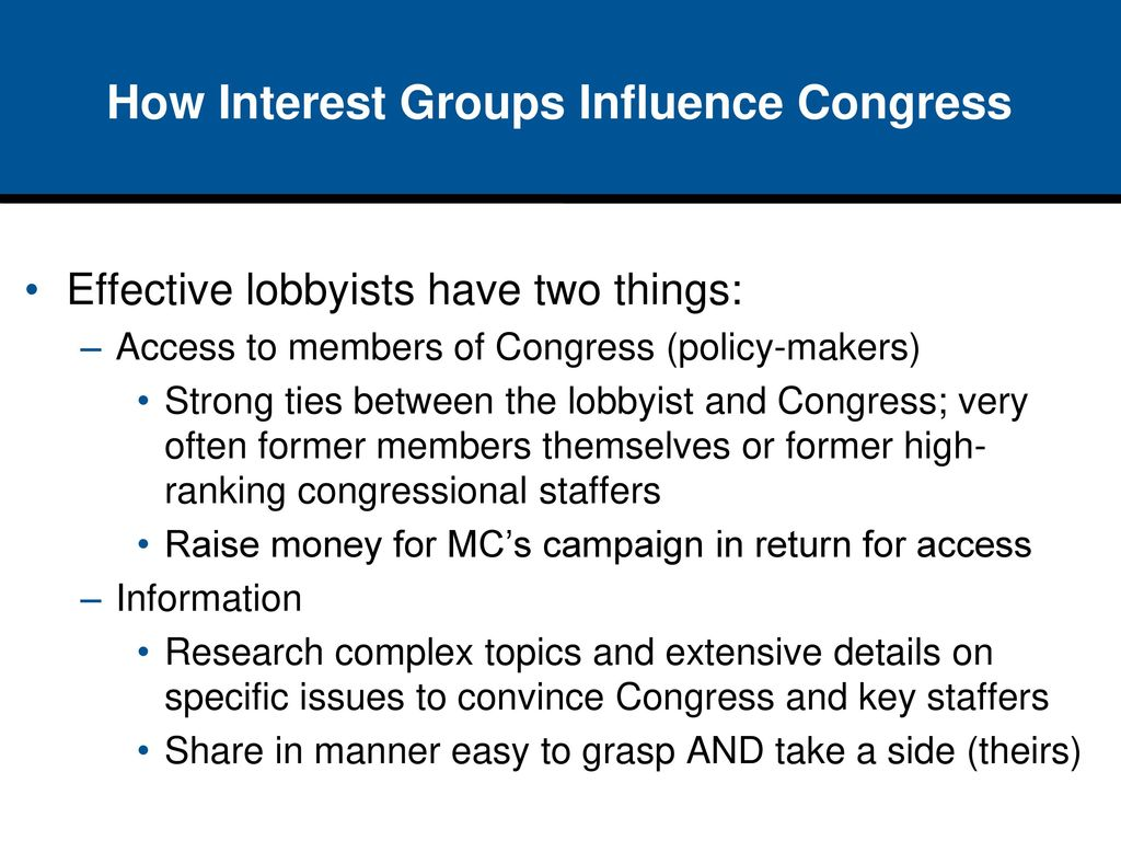 the role and importance of interest and lobby groups in america Interest groups in the united states play a central role in shaping debates over   group lobbying at all levels of political activities, both federally and on the state  level  provides insight into the importance of effective advertising, which in the .