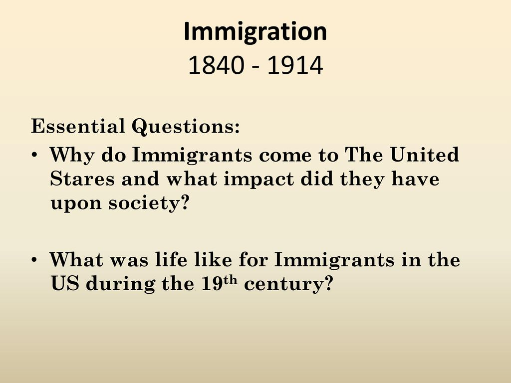 why do immigrants come to the united states essay Why Do People Migrate?