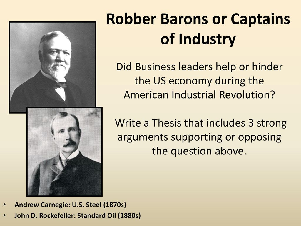 andrew carnegie captain of industry essay One of the captains of industry of 19th century america, andrew carnegie helped build the formidable american steel industry.