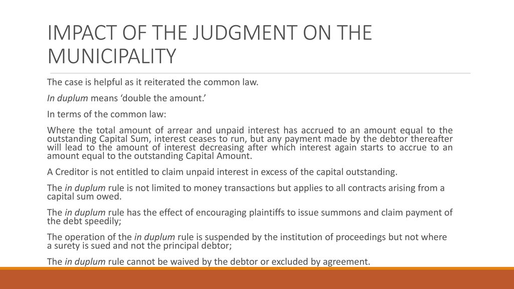 THE LAW, POLICY,& JUDGMENTS IN CREDIT CONTROL - ppt download