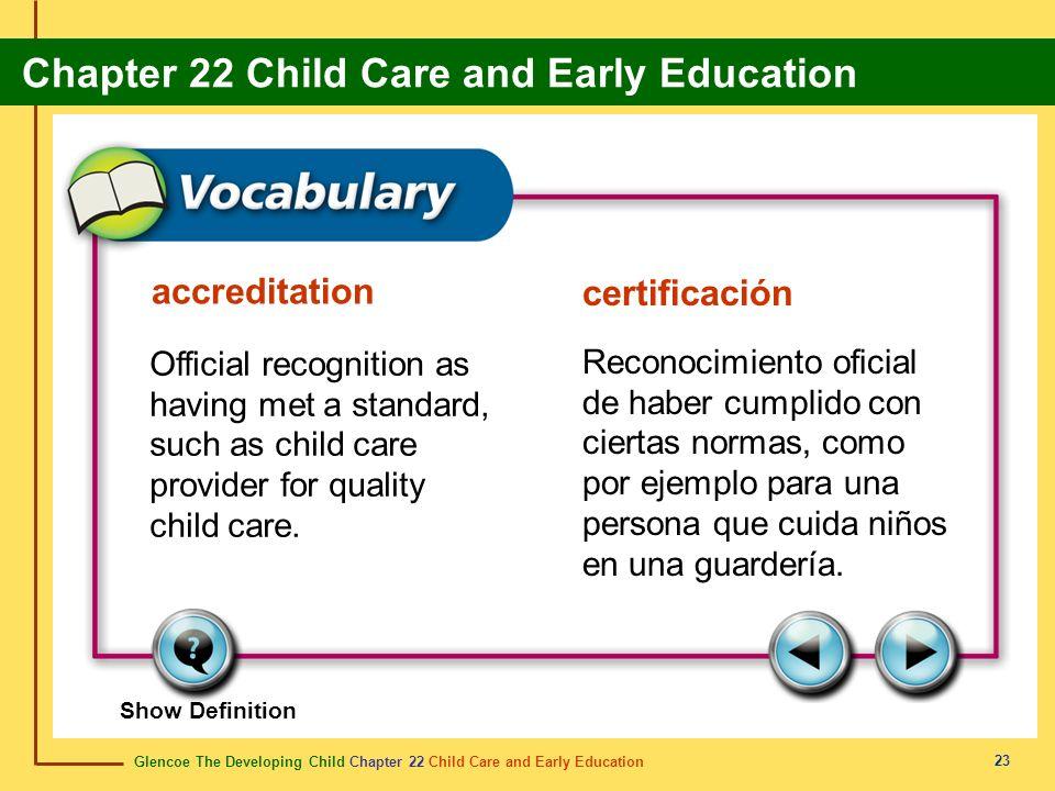 accreditation certificación