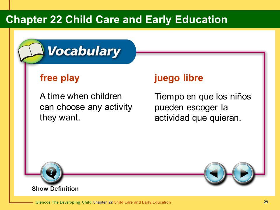 free play juego libre. A time when children can choose any activity they want. Tiempo en que los niños pueden escoger la actividad que quieran.