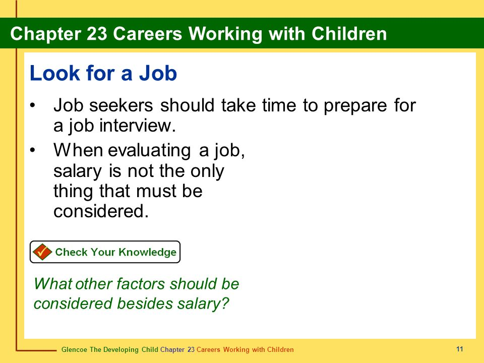Look for a Job Job seekers should take time to prepare for a job interview.