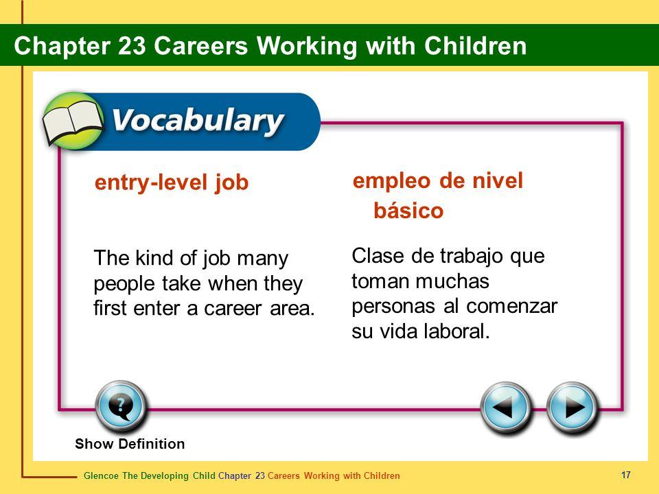 entry-level job empleo de nivel básico