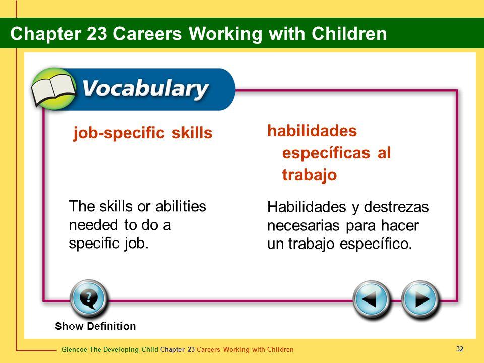 habilidades específicas al trabajo