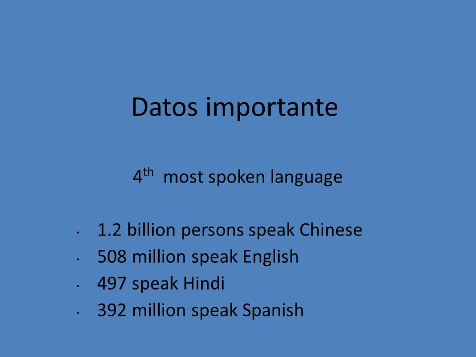 4th most spoken language