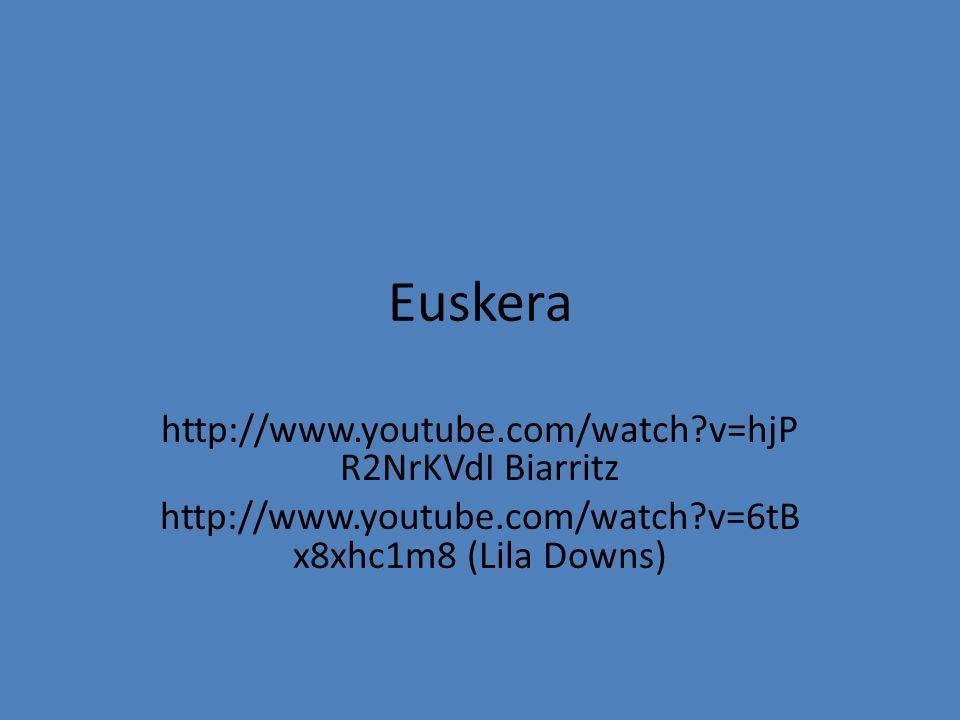 Euskera http://www.youtube.com/watch v=hjP R2NrKVdI Biarritz