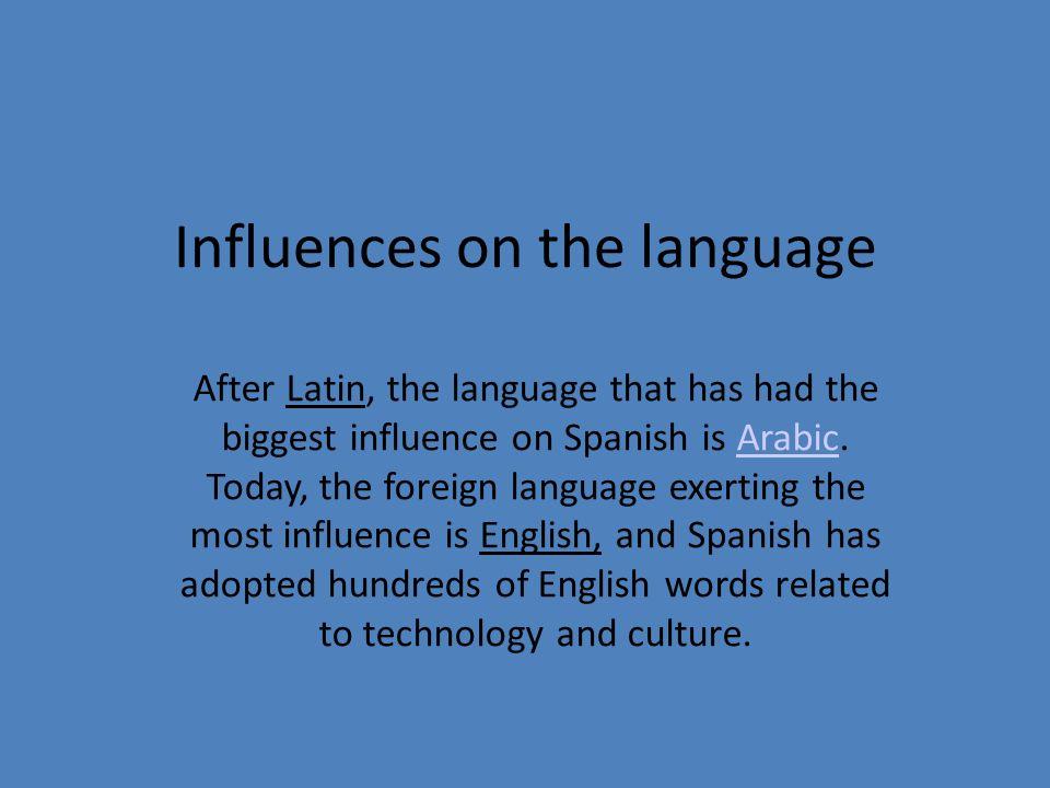 Influences on the language