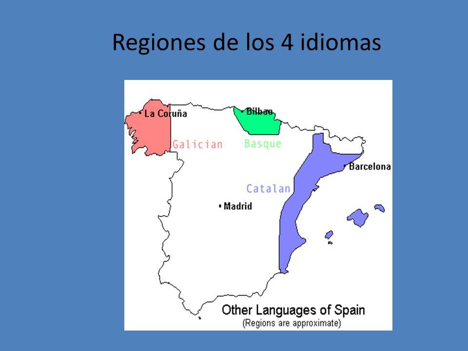 Regiones de los 4 idiomas