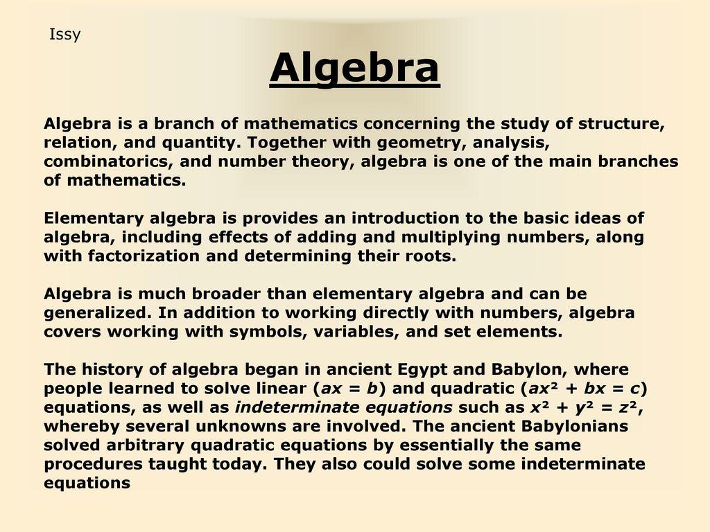 The history of mathematics ppt download 29 algebra buycottarizona