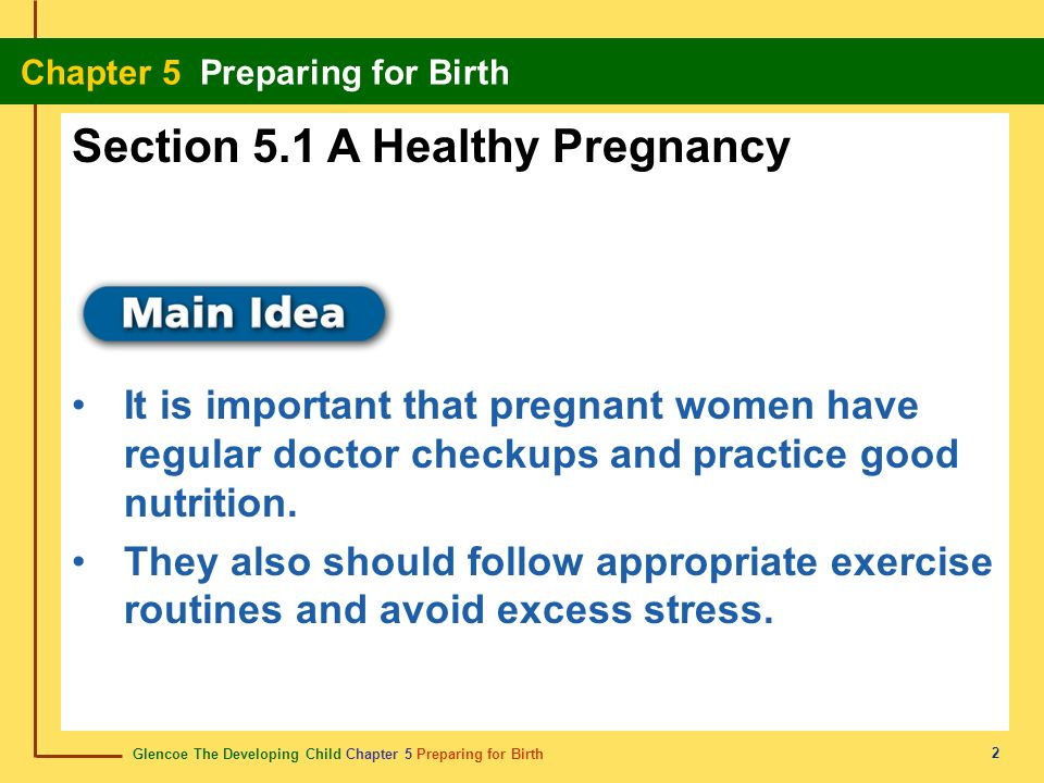 Section 5.1 A Healthy Pregnancy
