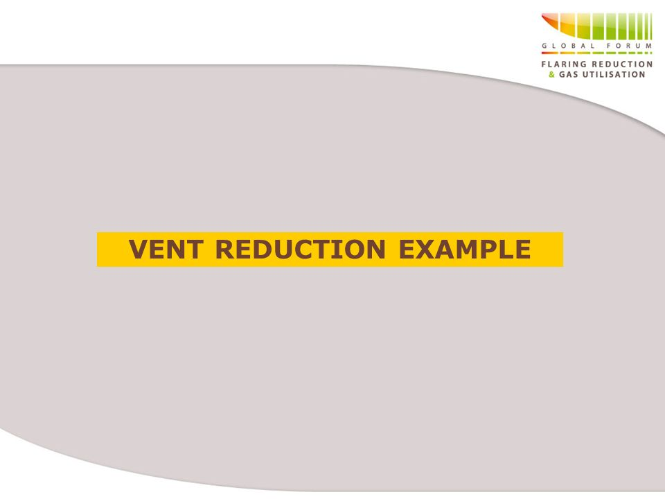 VENT REDUCTION EXAMPLE