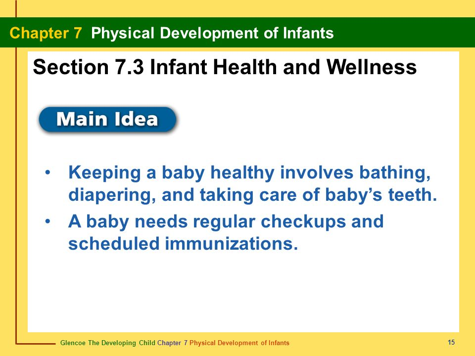 Section 7.3 Infant Health and Wellness