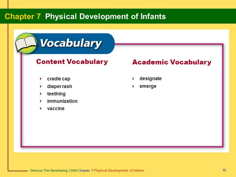 Content Vocabulary Academic Vocabulary cradle cap diaper rash teething