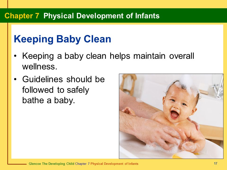 Keeping Baby CleanKeeping a baby clean helps maintain overall wellness.