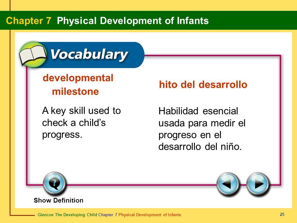 developmental milestone hito del desarrollo