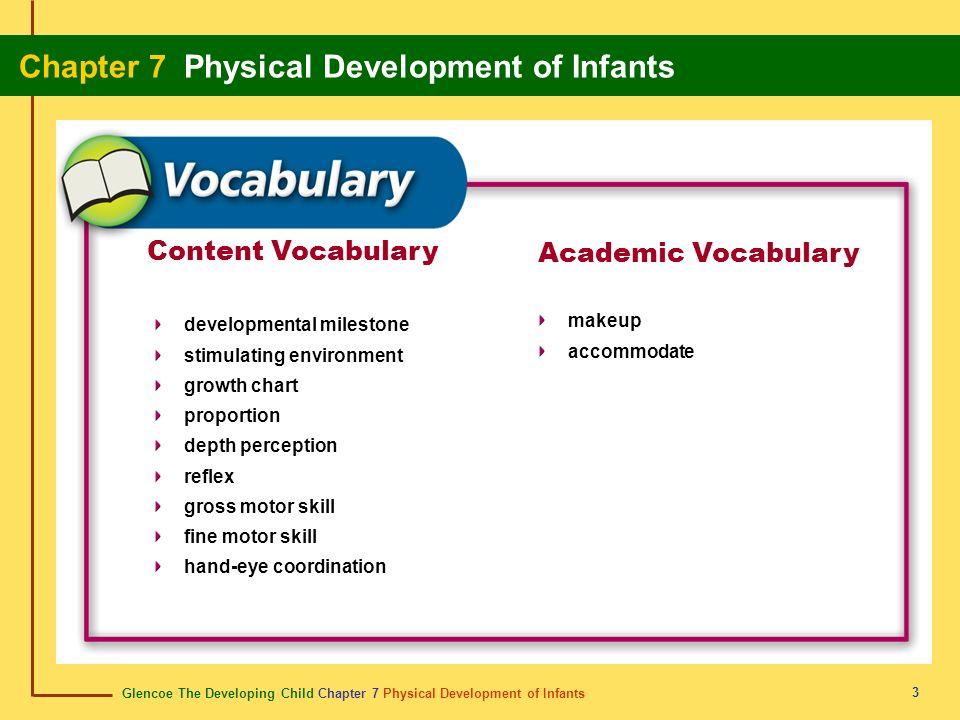 Content Vocabulary Academic Vocabulary makeup developmental milestone
