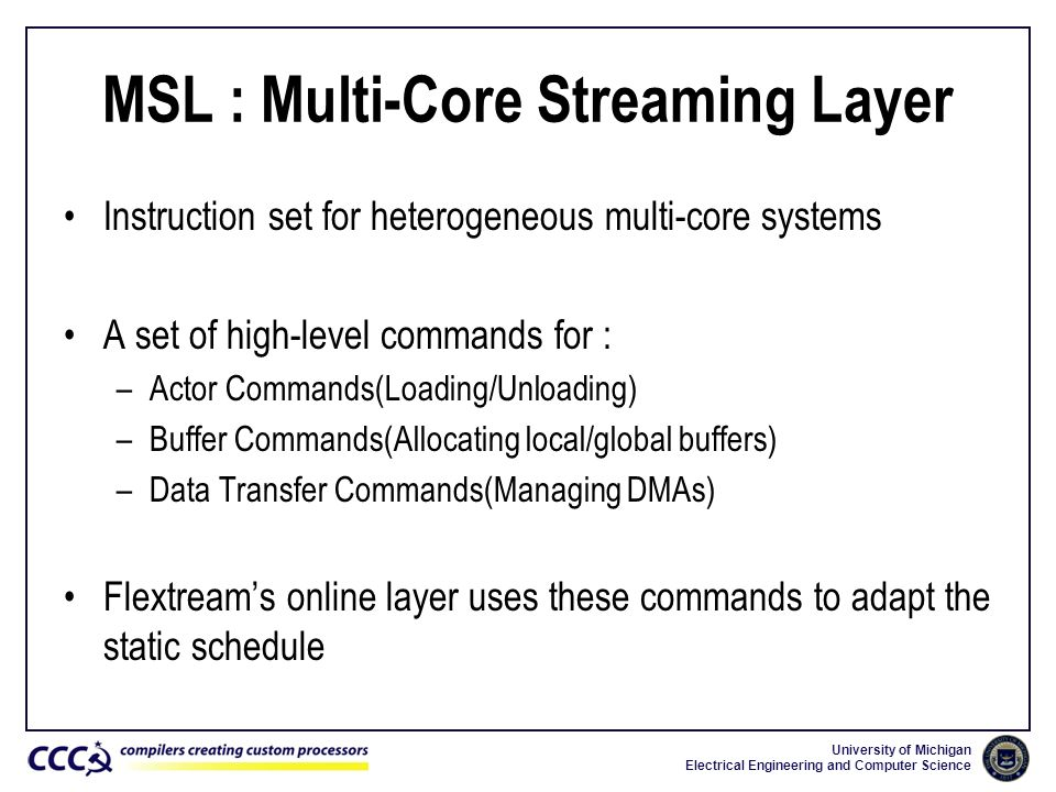 MSL : Multi-Core Streaming Layer